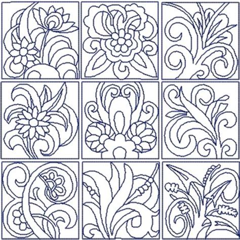 Quilt Block Embroidery Designs by Advanced Embroidery Designs Flowers Quilt Block Set