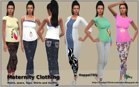 sims 3 teen pregnancy clothes hoppel785 s kreationen sims 4 maternity clothing by hoppel785