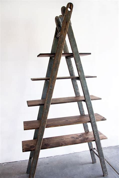 Wooden Shelf Ladders by Diy Bookshelf Ladder