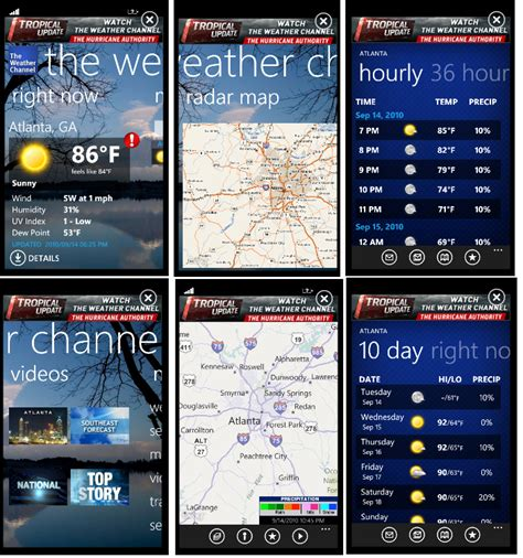 the weather channel mobile the weather channel announces windows phone 7 mobile