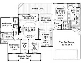 Bedroom house floor plans on 3 bedroom house plans without garage