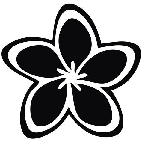 black and white clip clip black and white plumeria clipart