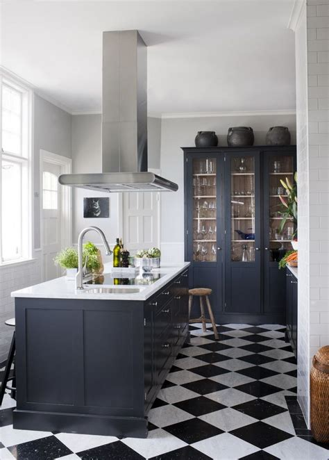 Black And Blue Kitchen Decor by Best 25 Checkerboard Floor Ideas Only On