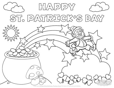 st patricks day coloring page st s day