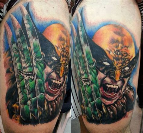 superhero tattoos wolverine by clayton dias xmen tattoos inked