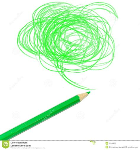 green colored green colored pencil drawing stock photography image