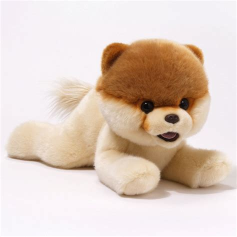 pomeranian stuffed animal gund boo laying pomeranian plush stuffed animal ebay