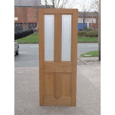 Glass Paneled Door Ed003 4 Panel Etched Glass Door With Clear Border Glass