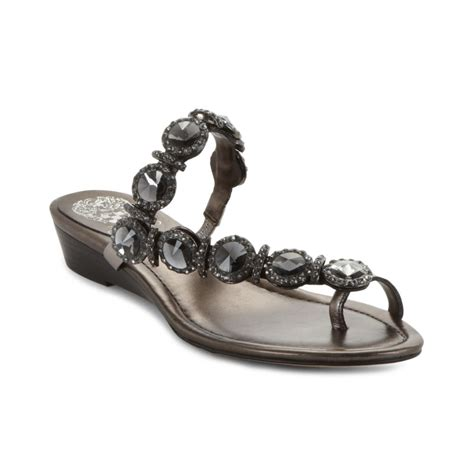 vince camuto silver sandals vince camuto imanal sandals in silver lyst