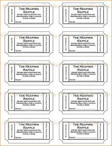 Ticket Printing Template by 3 Printable Raffle Ticket Template Teknoswitch