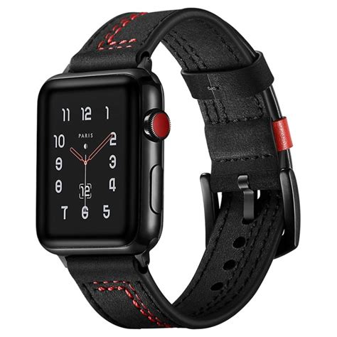 apple  series  stitched leather strap mm