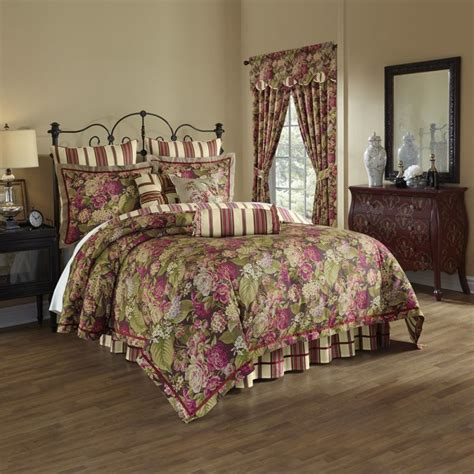 waverly comforter sets waverly waverly floral flourish cordial 4 piece bedding