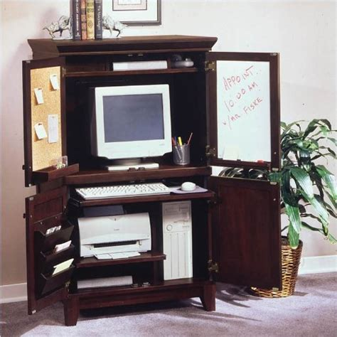 home styles furniture solid hardwood computer armoire in