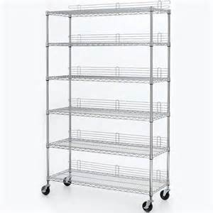 home depot wire shelving hdx 6 shelf 77 in h x 48 in w x 18 in d industrial wire