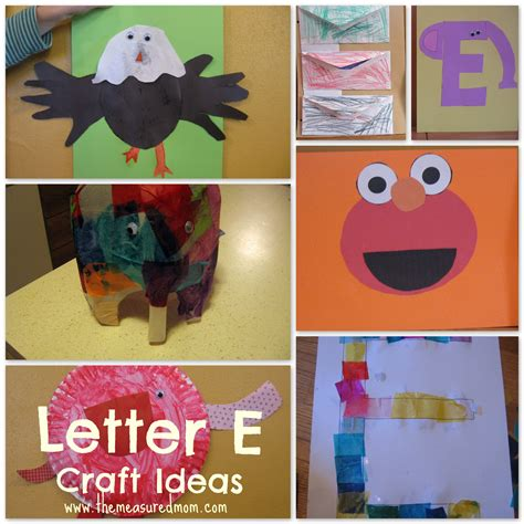 for preschoolers letter e craft ideas the measured