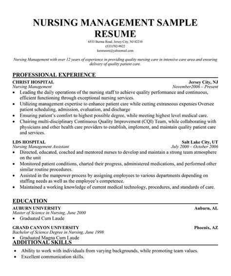 Resume Templates For Nursing Management Bold Type Resume Cv Schablonen