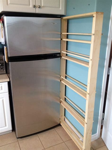 diy sliding spice rack build your own slide out pantry s handmade