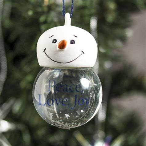 miniature snow globe ornament christmas ornaments