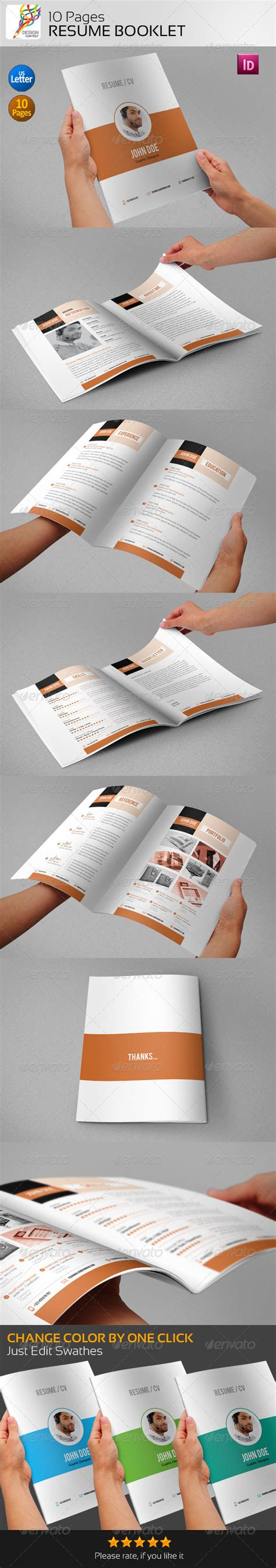 cv booklet design resume booklet 10 pages by contestdesign graphicriver