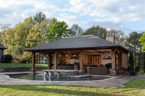 homes with pool rustic mississippi pool house landscaping network
