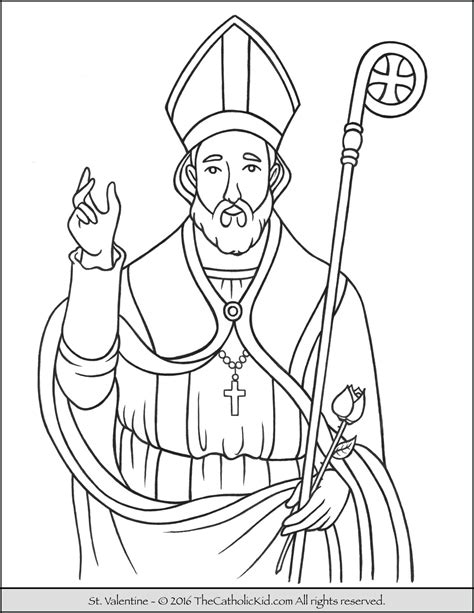 Valentine St Valentine Free Colouring Pages St Coloring Page Catholic