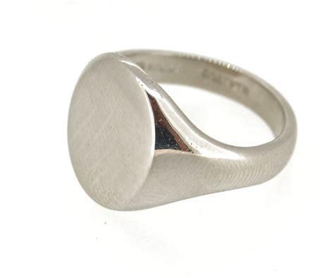 gents platinum signet ring hallmarked sheffield 1999 ebay