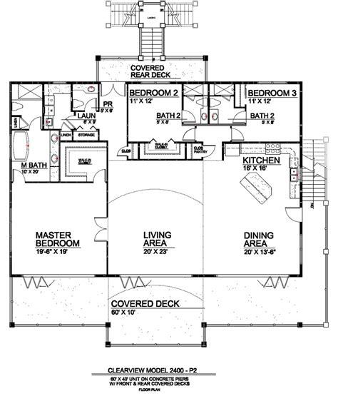 pier footing house plans plans house plans
