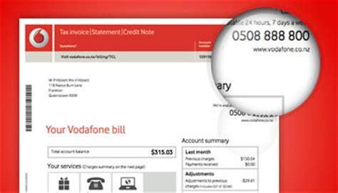 Credit Format For Vodafone How To Pay Your Vodafone Mobile Bill Vodafone Nz