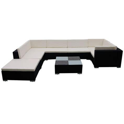 Polyrattan Lounge Schwarz by Der Gartenm 246 Bel Poly Rattan Set Lounge Schwarz 24 Teilig