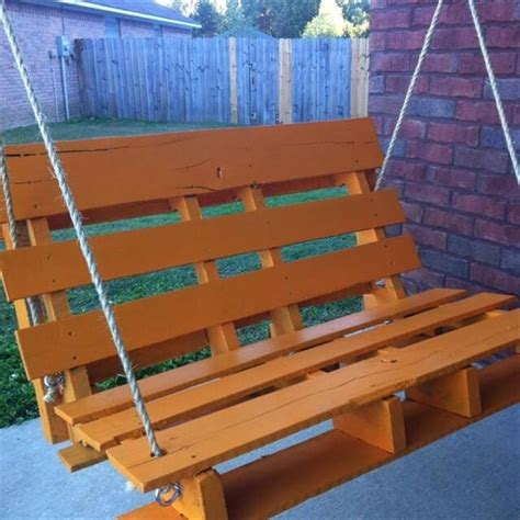 pallet porch swing pallet furniture for outdoors 99 pallets