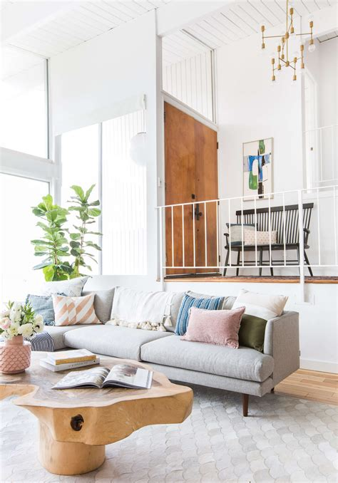 how to sell a couch how to add style to a neutral living room emily henderson