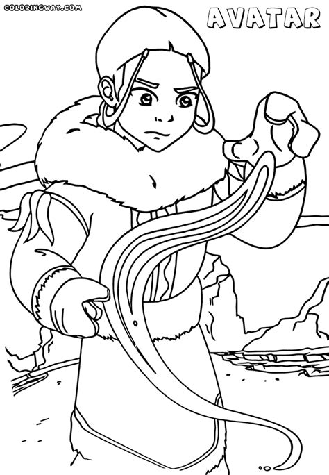 Avatar Coloring Pages by Avatar Anime Coloring Pages Coloring Pages