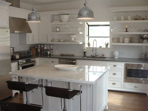 Mkb Kitchens by Custom White Shaker Maple Inset With Open Shelving Concept