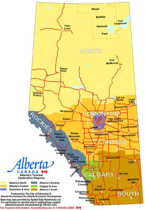 canadian map alberta alberta canada cities and town