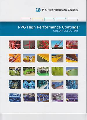 ppg color chart industrial coatings color charts