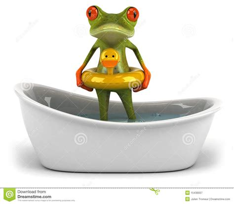 frog in bathtub frog in a bath royalty free stock photography image