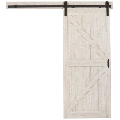 Lowes Interior Doors With Frame by Shop Reliabilt Sandstone Gray K Frame Barn Interior Door Common 36 In X 84 In Actual 36 In X
