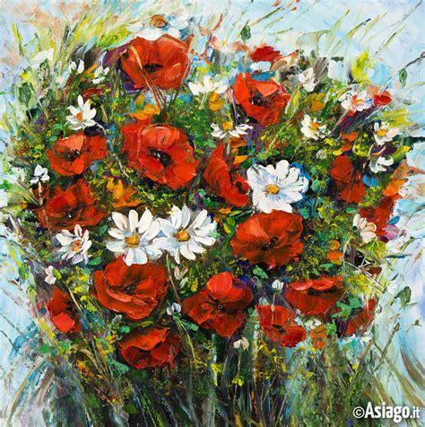 vasi di fiori dipinti ad ognuno la sua pianta e il suo fiore incontro di