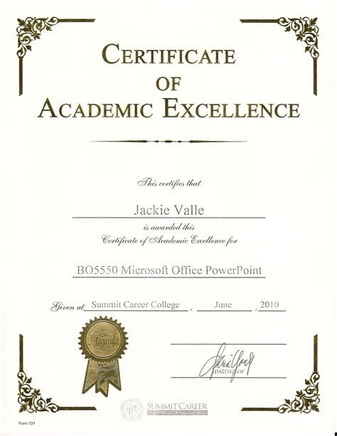 powerpoint award certificate template all templates deal