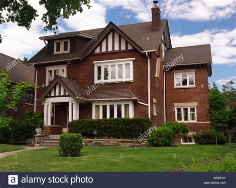 buy house in canada beautiful large house in toronto ontario canada summertime scenic stock photo