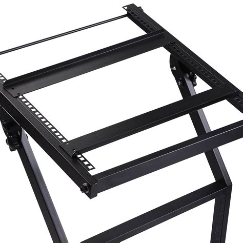 16u 19 quot rack mount mixer stand studio equipment cart