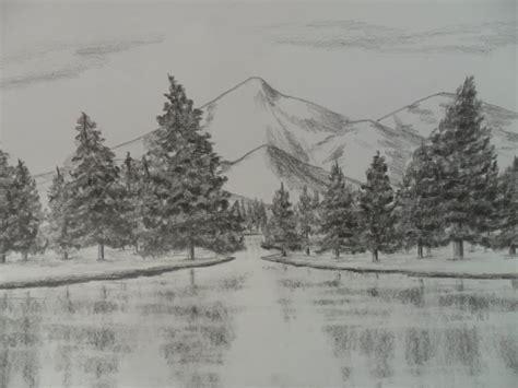 imagenes de paisajes lapiz como dibujar un paisaje a l 225 piz paso a paso agua