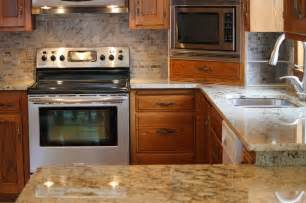 kitchen remodel beige granite counter tops with