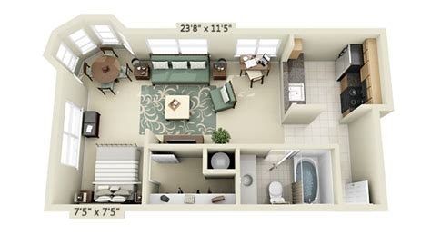 small studio apartment floor plans interior design ideas