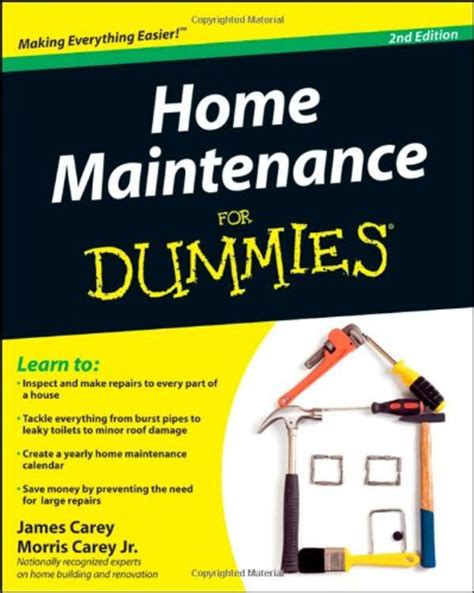 home maintenance for dummies how to books