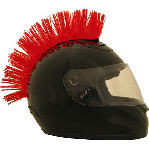 motocross helmet mohawk motorcycle helmet mohawk velcro attachment red colored