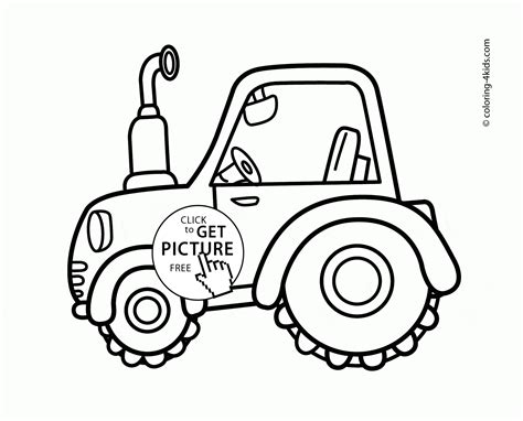 cute tractor coloring page  toddlers transportation