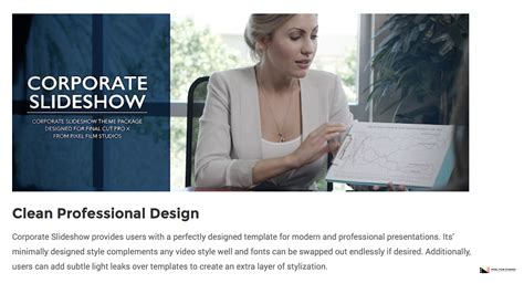 Pixel Film Studios Set To Release Corporate Slideshow For Final Cut Pro X Cut Pro X Slideshow Template