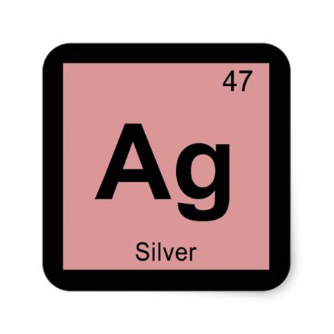 Ag On Periodic Table by Ag Silver Chemistry Periodic Table Symbol Square Sticker
