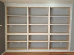 Bookcase Dark Wood Built In Bookshelves